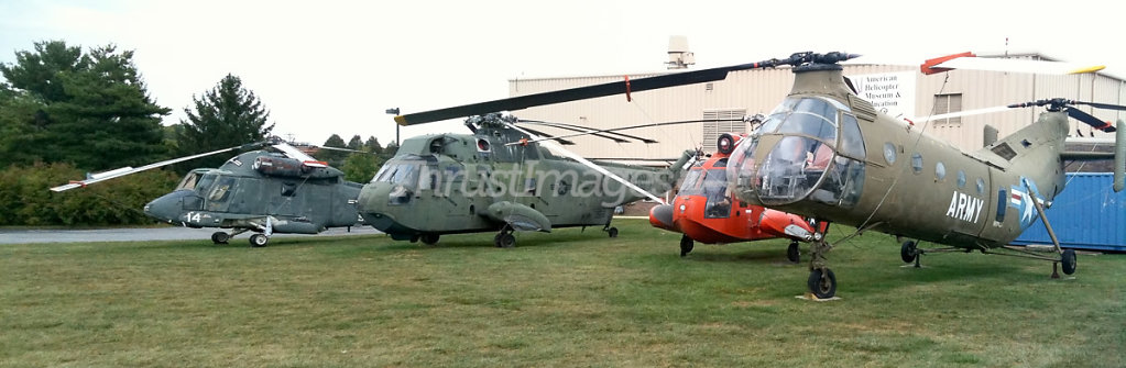 Sikorsky HH-52A Sea Guardian and Sikorsky HH-3A Sea King and Pia